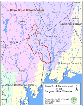 stony brook watershed map