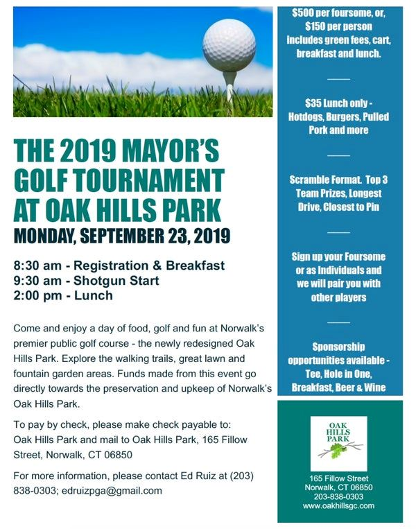 The 2019 Mayor's Golf Tournament at Oak Hills Park