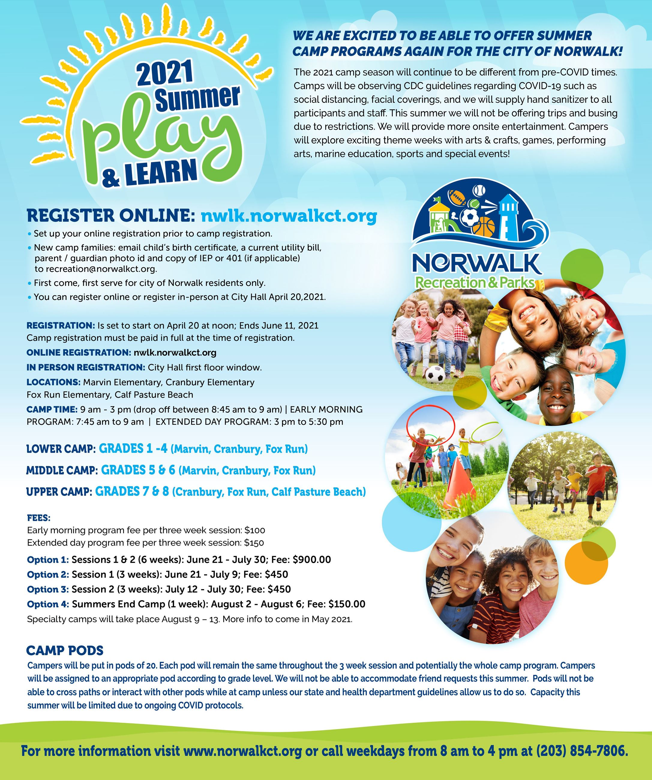 2021 Summer Play and Learn updated flyer